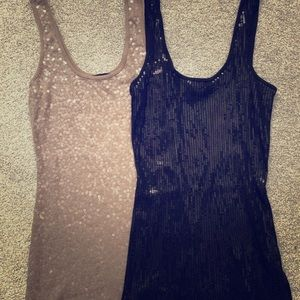 Express sparkly tank tops